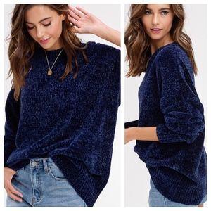 Chenille oversized sweater